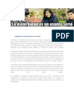 Embarazos Adolescentes en El Perú