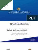 Tutoría No.3 Álgebra Administración