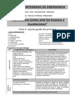 0001 Proyecto Integrado de Emergencia- 5to Grado UNIDAD JESSICA
