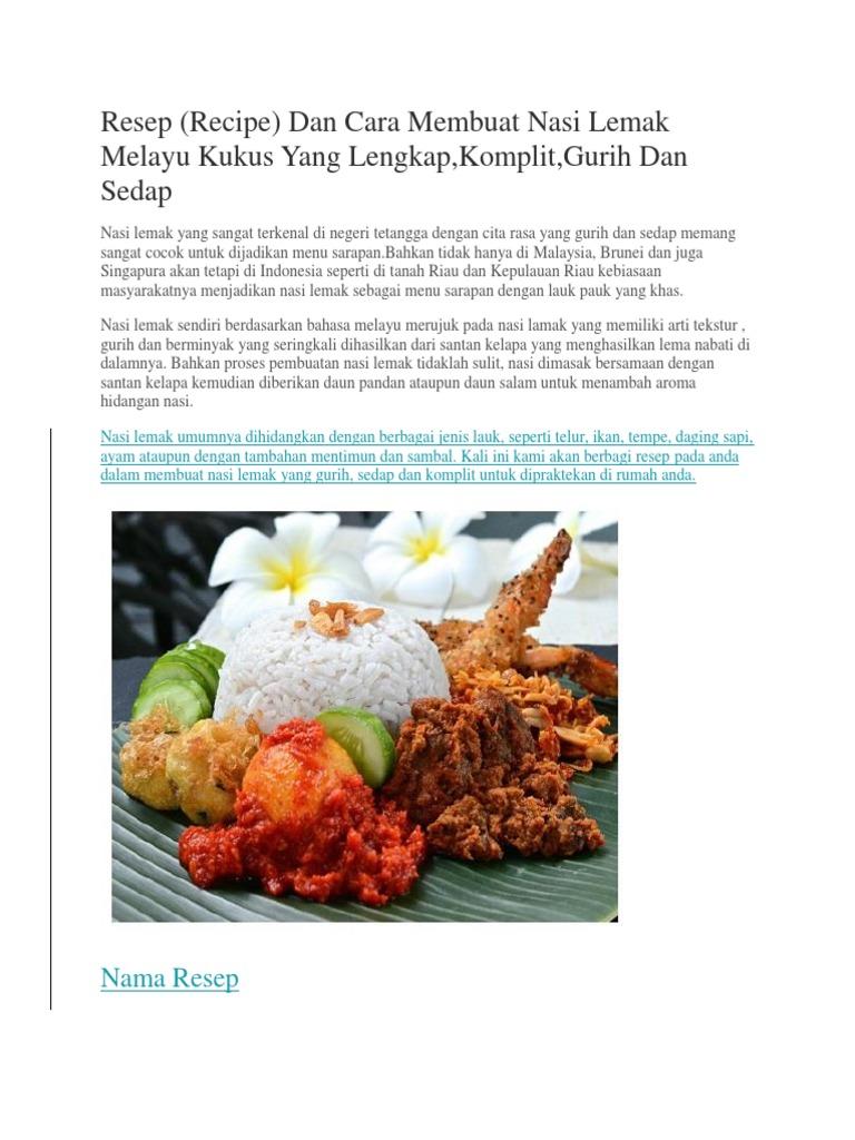 masak nasi lemak kukus hans cooking recipes Resepi Mee Goreng Kelantan Enak dan Mudah