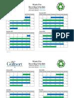 2017-2018 Recycling Calendar Final