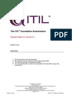ITIL Foundation Examination Sample a v5.1