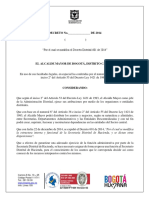 Decreto Modifica Decreto 601 de 2014