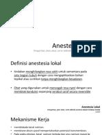 3. Anestesia Lokal