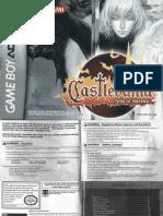 Castlevania - Aria of Sorrow - Manual - GBA