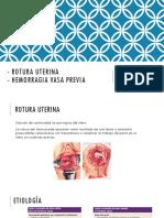 1. Rotura Uterina y Hemorragia Vasa Previa
