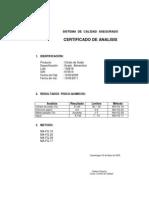 Certificado Del Citrato