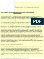 Definition - Constructivism.pdf