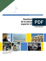 Desafíos del futuro de la educación superior chilena