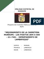 Perfil Mejoramiento de La Carretera Morrope - Los Positos[1]