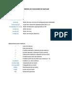 Libreria de Funciones en Matlab