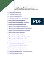 Tablas de Pesos Específicos y Densidades de Materiales