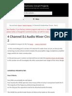 4 Channel Dj Audio Mixer Circuit Part 2 1