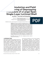 FEM Simulation and Field Monitoring of Depropping Procedure of a Large-Span Single-Layer Latticed Shell