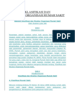 Makalah Klasifikasi Dan Struktur Organisasi Rumah Sakit
