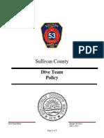 Sullivan County FD Dive Team Policy Procedure 06-01-2012