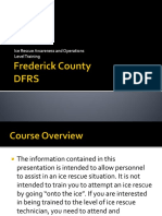 Frederick County Ice Rescue Awareness Level Training Course