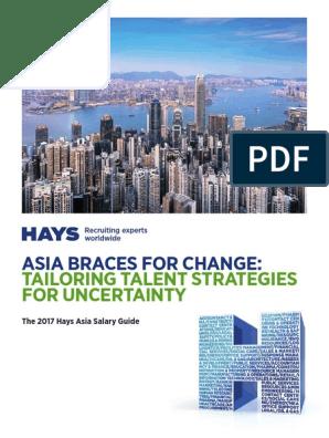 2017 Hays Asia Salary Guide En Recruitment Employment