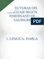 Estructuras Del Lenguaje según Ferdinand de Saussure