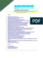 FAQ Memory