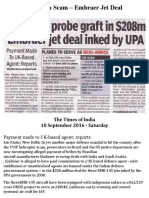 Air India Scam – Embraer Jet Deal