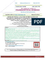 CROSS-SECTIONAL ANALYSIS OF PREVALENCE OF VITAMIN B 12 DEFICIENCY IN DIABETIC POPULATION