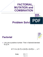 Factorial - Combination and Permutation