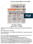 Amarnath Yatris From Gujarat Killed in Kashmir
