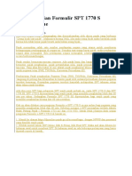 Cara Pengisian Formulir SPT 1770 S Secara Online