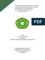 ASUHAN KEPERAWATAN TINDAKAN PEMASANGAN GIPS PADA PASIEN CF.docx