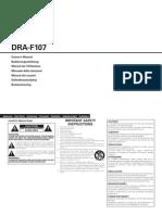 Denon DRA-F107 - Manual (Ing)