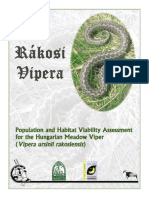 Population and Habitat Viability Assessment (PHVA) For the Hungarian Meadow Viper (Vipera ursinii rakosiensis)