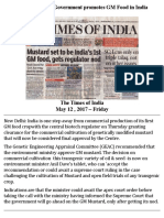 Narendra Modi Government Promotes GM Food in India