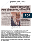 Paris Agreement on Climate Change - India Should Not Sign This Agreement
