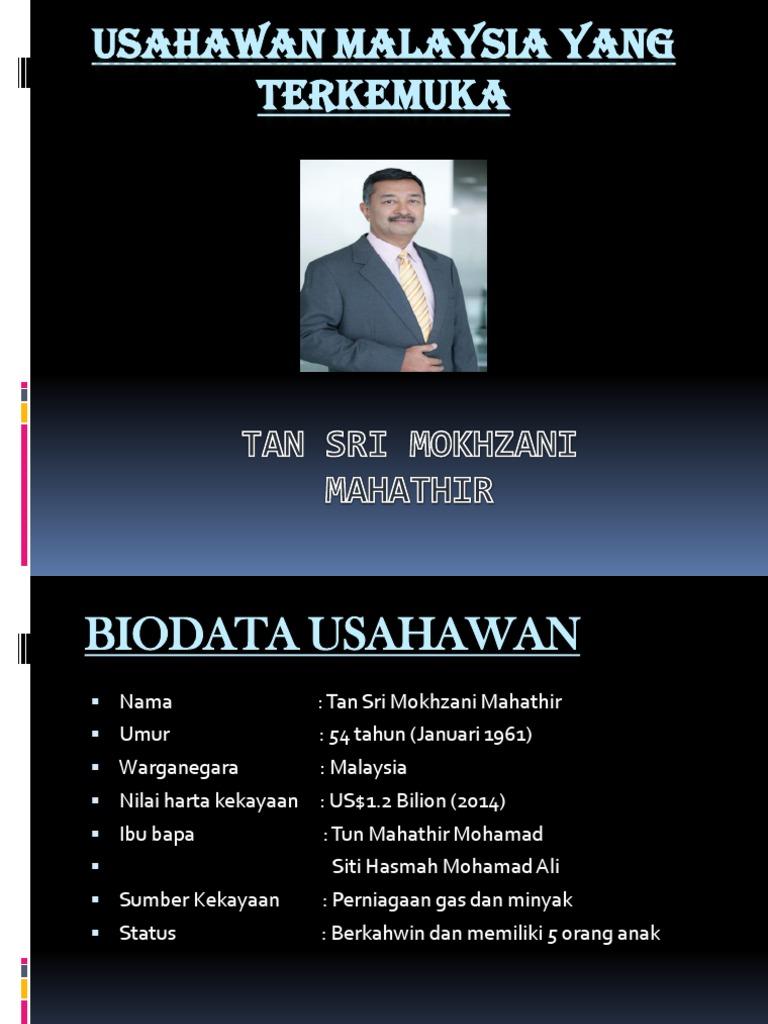 Usahawan Malaysia Yang Terkemuka Pptx