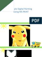 Digital Painting Using Ms Paint
