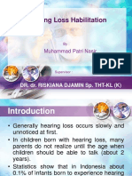 Habilitasi Pendengaran - Hearing Loss Habilitaition (English)