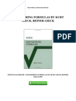 Engineering Formulas by Kurt Gieck Reiner Gieck
