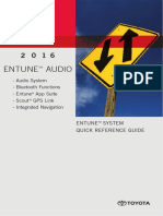 ENTUNE™ SYSTEM QUICK REFERENCE GUIDE