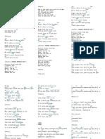Lyrics (Love of My Life, Sundo, If I Aint Got You)