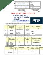 Procedura Pentru Activitatea Comisiei Primar