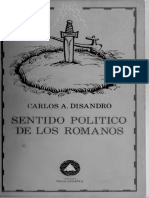 Disandro Carlos - Sentido Politico de Los Romanos