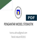 Lecture 1 Pengantar Model Stokastik