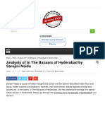 Analysis of in the Bazaars of Hyderabad by Sarojin