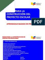 Estructura Del Proyecto Escolar MINEDUC