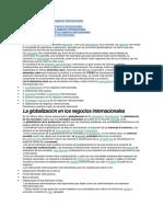 La Globalización en Los Negocios Internacionales