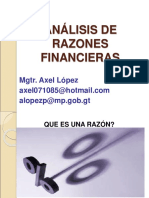 Analisis de Razones Financieras