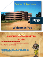 Panchakarma in Netra Roga