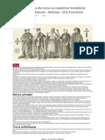 A Incrível História de Como Os Cavaleiros Templários _inventaram_ Os Bancos - Notícias - UOL Economia