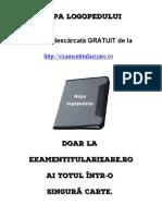 Mapa logopedului - www.ExamenTitularizare.ro